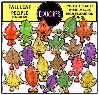 Fall Leaf Collection Clip Art Bundle {Educlips Clipart}