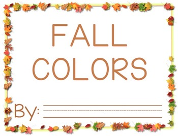 Fall Leaf Color Book