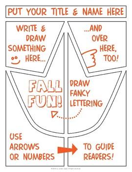 Fall Leaf Comic Template FREEBIE