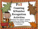 Fall Counting and Number Recognition Activities and More!
