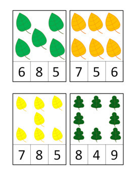 Fall Leaf Counting Activity Numbers 1-30