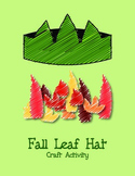 Fall Leaf Craft - hat craft with fall leaves craftivity