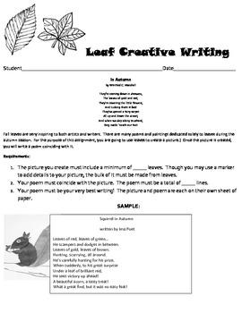 Fall Leaf Creative Writing and Art Masterpiece!