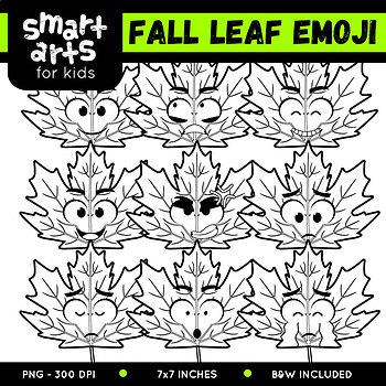 Fall Leaf Emoji Clip Art