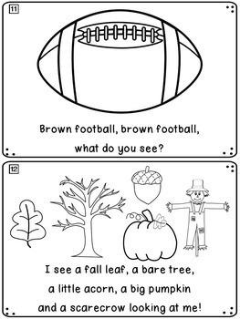 Fall Emergent Reader: Fall Leaf, Fall Leaf, What Do You See?