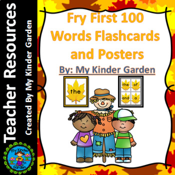 Fall Leaf Fry First 100 Sight Word Flashcards and Posters