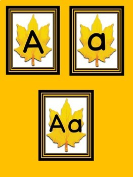 Fall Leaf Full Page Alphabet Letter Posters / Word Wall Headers
