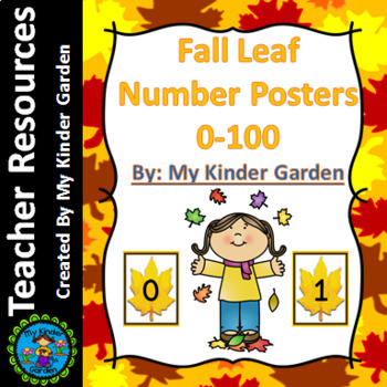 Fall Leaf Math Full Page Number Posters 0-100