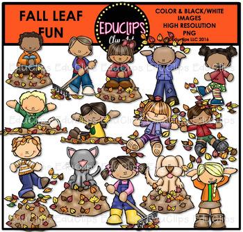 Fall Leaf Fun Clip Art Bundle {Educlips Clipart}