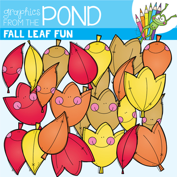 Fall Leaf Fun - Fall / Autumn Clipart Set