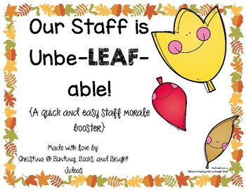 Fall Leaf Match-Up Morale and Community Building for Staff