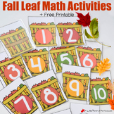 Fall Leaf Math Basket Number Cards