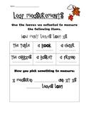 Fall Leaf Math Measurement