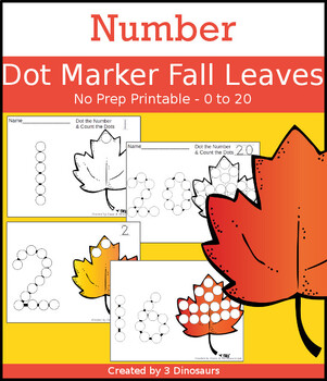 Fall Leaf Number Dot Marker & Counting