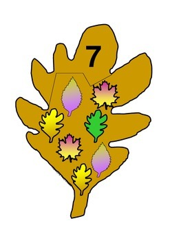 Fall Leaf Number Identification Puzzles 1-20