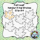 Fall Leaf Pre-writing Practice Clip Art