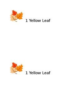 Fall Leaf Rubbing Book