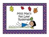 Fall Leaf Rubbings for children's art