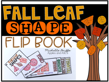 Fall Leaf Shape Flip Book