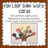 Fall Leaf Sight Word Cards
