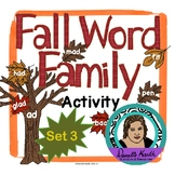 Fall Leaf Sort - Word Family Trees - Set 3 - Covers 7 Word Families!