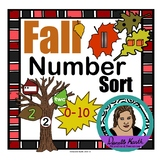 Fall Leaf Sort with Number Recognition - Number Words, Tally Marks, and More!