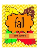 Fall Leaf Sorting Game!