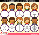 Fall Leaf Spinners Clip Art