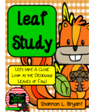 Fall Leaf Study and Observation Log (Math and Science Fun!)