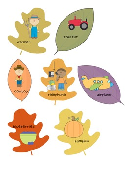 Fall Leaf Syllable Sort - for word work / literacy centers (Common Core Aligned)