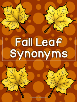 Fall Leaf Synonym Sort!