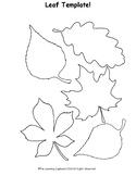 Fall Leaf Template!