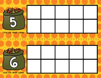 Fall Leaf Ten Frames (includes worksheet)