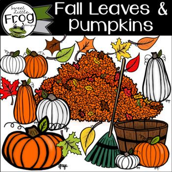 Fall Leaf and Pumpkin Clip Art
