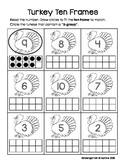Fall Leaf and Turkey Ten Frames with 5-groups