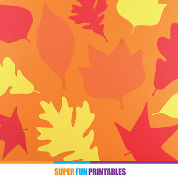 Paper leaf templates for Fall or Autumn