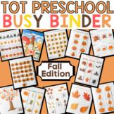 Fall Learning Binder for Toddler & Preschool -Seasonal Qui