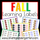 Fall Learning Labels (Word Doc)