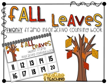 Fall Leaves 20 Frame Counting Interactive Book