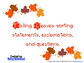 Fall Leaves: A Sentence Sorting Game
