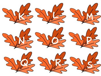 Fall Leaves ABC game