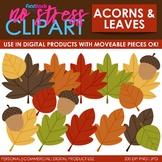 Fall Leaves Acorns Clip Art (Digital Use Ok!)