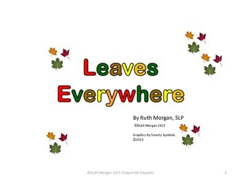Fall Leaves Activity/Literacy Packet--Special Education/SLP/OT