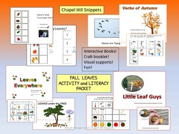 Fall Leaves Activity/Literacy Packet-SLP/OT and Special Education