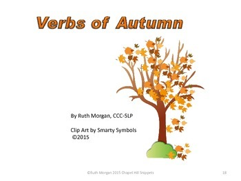 Fall Leaves Activity/Literacy Packet--Special Education/ SLP