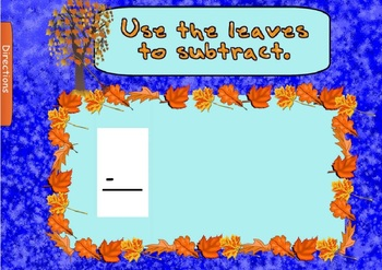 Fall Leaves Addition and Subtraction (SmartBoard Lesson)