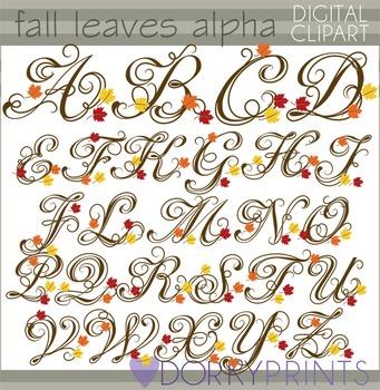 Fall Leaves Alphabet Clip Art