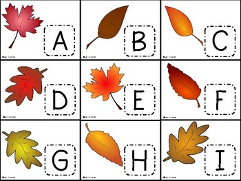Alphabet Match {fall leaves}