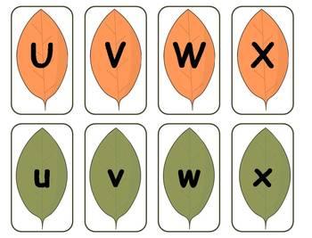 Fall Leaves Alphabet Matching Literacy Center {FREEBIE}