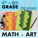 Fall Leaves - An Art Lesson on Reflective Symmetry